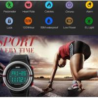 Quality New Fashion Men 3D Pedometer Heart rate Monitor Chronograph Alarm WR 50M for sale