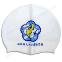 China funnny swiming cap siliocne material use for racing wholesale