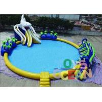 Quality Outdoor Commercial Inflatable Water Park Round For Kids Durable Security for sale