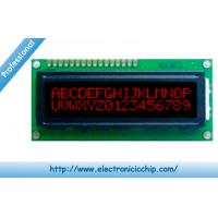 China STN Basic Character LCD Display 16x2 , Red on Black 3.3V display With ST7066 controller wholesale