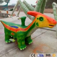 China outdoor playground electric dinosaur ride car for kids wholesale
