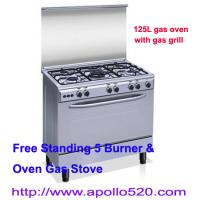 China Free Standing 5 Burner & Oven Gas Stove wholesale