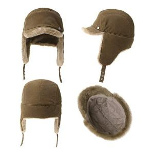 China Men 56cm Winter Leather Trapper Hat Warm With Fur wholesale