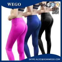 China Pink Womens Sports Yoga Workout Running Fitness Tights Elasticity Sports Pants wholesale