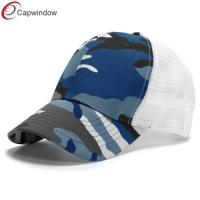 China 6 Panel Customized Trucker Mesh Cap Adjustable Plastic Snap / Constructed Front wholesale