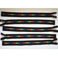 Quality Plastic Type Sewing Notions Zippers , rainbow teeth multi colored zipperr for for sale