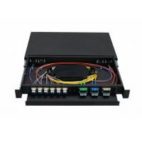 China 1U , 2U , 3U , 4U 19 inch Fiber Optic Terminal Box with Cold rolled steel wholesale