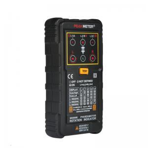 China Three Phase Motor Phase Rotation Tester Indicator 120V - 400V AC Operating Voltage Range on sale
