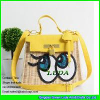 LUDA big eyes rattan wallet 2016 summer lady hobo cosmetic bags