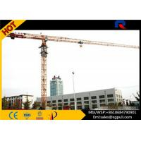 Quality Flat Top Tower Crane Jib Length 56M , Telectric Tower Crane Schneider Electric Box for sale