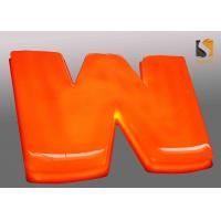 China Orange Outdoor Vacuum Formed Lighted Channel Letters With Dome Shape Face / Prismatic Face wholesale