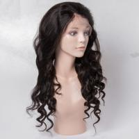China Virgin Human Hair Lace Front Wigs No Shedding For Black Woman , Medium Brown Color wholesale