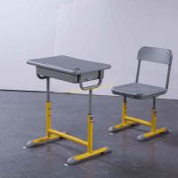 China HDPE Environmental Iron Aluminum Student Desk Aand Chair Set With Drawer wholesale