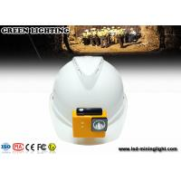 China 8000 Lux Fire Proof Led Mining Helmet Lamp With 18650 Battery , High Brightness wholesale