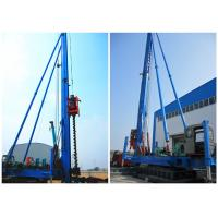 China Screw Borehole Drilling Rig Max Depth 34meters Crawler Movement Way wholesale