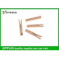 China Safety Household Plastic Clothes Pegs Wooden Clips For Clothes OEM / ODM Available wholesale