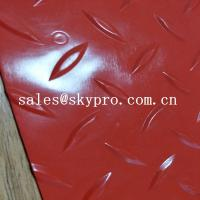 China Black 2mm / 3mm Plastic Sheet PVC anti slip vinyl film roll pvc fine ribbed floor mat wholesale