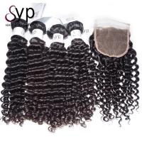 10 Inch - 30 Inch Remy Virgin Brazilian Human Hair Extensions Deep Curly