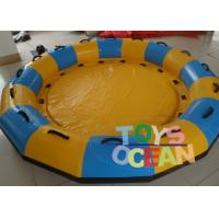 China 8 Persons Inflatable Water Toys Floating Rider Lounge Raft Ski Tube For Water Park wholesale