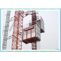 China CE Material Hoisting Equipment , Passenger And Material Hoist Used In Building / Construction wholesale