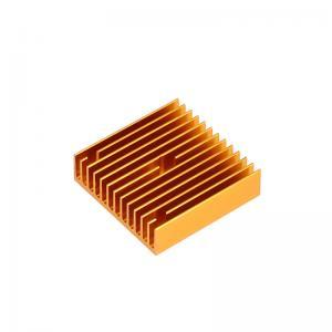 China 40*40*11mm MK7 MK8 3D Printer Heatsink Gold Copper Radiator wholesale