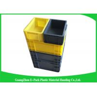 China Self Adhesive Label Holders Stackable Plastic Storage Containers , Euro Plastic Storage Boxes wholesale
