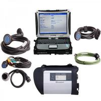 Quality 2017.5V MB SD Connect C4/C5 Star Diagnosis Plus Panasonic CF19 I5 4GB Laptop Software Installed Ready to Use for sale