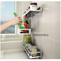 China Multi Tier Rotatable Bathroom Storage Rack Solid Base For A Stable Hold wholesale