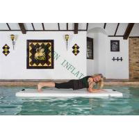 China Grey Top Portable Inflatable Yoga Mat On Water 220x85x15cm Eco Friendly wholesale