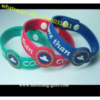China silicone Material and Africa Regional Feature thin silicone wristband/bracelet wholesale