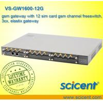 China gsm gateway with 12 sim card gsm channel freeswitch, 3cx, elastix gateway wholesale