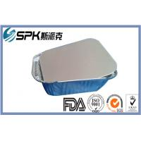 Quality Custom Caterer Aluminium Disposable Food Container Two Compartment Meal Trays for sale