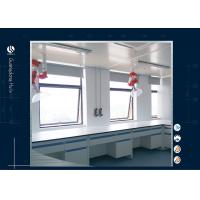 Steel And Wood Laboratory Benches And Cabinets , L Shape Cleanroom  Laboratory Work Benches