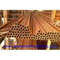 China CuNi90/10 Copper Nickel Tube / Straight Copper pipe CuNi Alloy 90/10 6 - 12m Length on sale