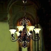 China Crystal Lighting Chandelier, Measures 780 x 860mm, Made of Steel Structure wholesale