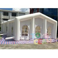 Quality White 0.55mm PVC Giant Inflatable Tents , Large Square Inflatable Wedding Tent for sale