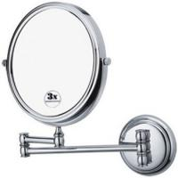 Hotel Style Double Side Wall Mounted Magnifying Mirror With Metal Frame