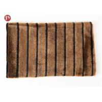 Buy cheap high quality Short Pile mink Faux Fur Fabric Coffee Black Groove from wholesalers
