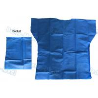 China Over Lock Sewing Disposable Scrub Suits , Custom Size Blue Scrub Suit wholesale