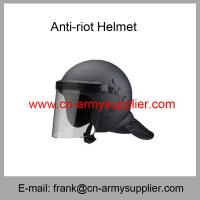 China Wholesale Cheap China Black Light Weight ABS Police Anti Riot Helmet wholesale