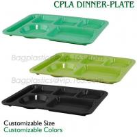 China 5 Compartment Lunch Box Disposable Plastic Food Container, biodegradable Fast Food Tray, disposable safety meat tray wholesale