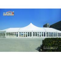White High Peak Luxury Wedding Party Tents Waterproof  With Clear Windows