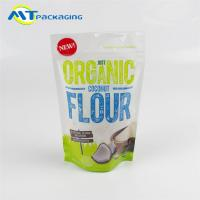 China Coconut Flour Stand Up Gusseted Pouch SGS Certification Easy To Display wholesale