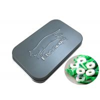 China Mini Hinged Rectangular Tin Cans For Jewelry Candy Box Coin Earrings Headphones Packing on sale
