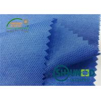 China Blue PP Spunbond Non Woven Fabric 35gsm / Soft Non Woven Polypropylene Roll For Garment on sale