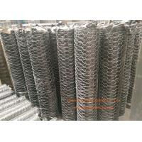 "China 1 / 4"" Galvanized Hexagonal Gabion Wall Mesh 0.5 - 2.5m Width For Poultry Netting wholesale"