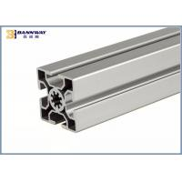 China Anodizing T / V Slot Industrial Aluminium Profile 50mmX50mm Size Silver Color wholesale