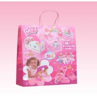 custom white kraft paper gift bags with twist paper handle manufacturer