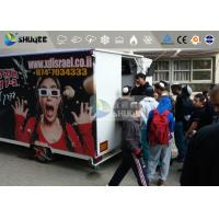 China 9 Motion Seats Mobile Trailer 5D Movie Theater , Truck Mobile 5D Cinema wholesale
