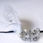 "Venice Mask Metal Mask with Swarovski crystals 13""PF3018DF"